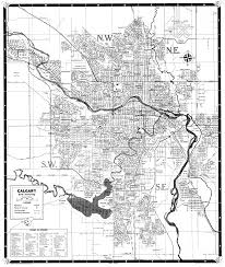 Calgary Map Found A 1960s Map Of Calgary Very Cool Seeing Change Over Time