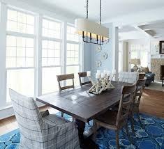 coastal dining room sets varnished teak wood dining table set
