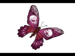how to draw a skull butterfly