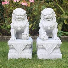 foo dog statues foo dog garden statues home outdoor decoration