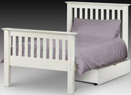 stone white barcelona wooden bed frame hfe 5ft kingsize