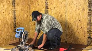 Miter Saw For Laminate Flooring How To Cut U0026 Install Baseboards For Wood Laminate Floors