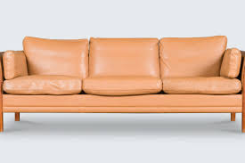 mid century leather chair sofa 70 s danish mid century leather sofa in the style of borge
