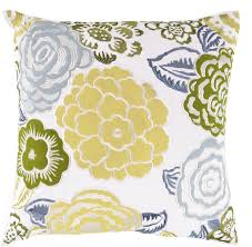 surya area rugs accent pillow ff 027 green yellow pillows