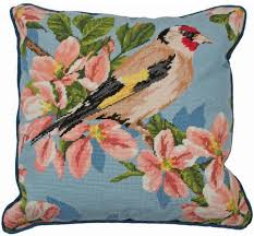 anchor gold finch and blossom needlepoint kit alr72 123stitch
