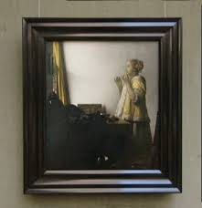 vermeer pearl necklace woman with a pearl necklace by johannes vermeer