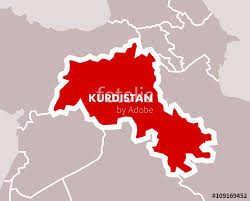 iraq map vector simple map of kurdistan as independent state of kurdish nation