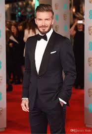 david beckham mens suits for wedding 2017 shawl lapel custom made