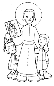 saint coloring page st john bosco catholic coloring page feast day is january 31st