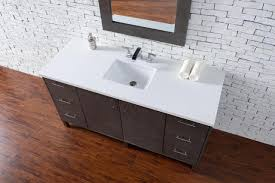 Bathroom Vanity Counter Top by Abstron 60 Inch Silver Oak Finish Single Sink Modern Bathroom
