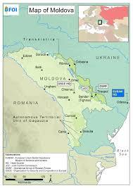 Moldova Map Maps Totalförsvarets Forskningsinstitut