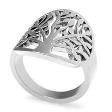 rings for mothers day sz 4 12 stainless steel leaf tree of ring s day
