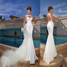 convertible mermaid wedding dress summer 2015 mermaid wedding dresses sleeveless v neck