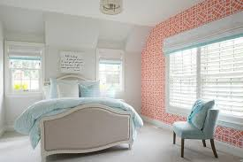Bedroom Pink And Blue Coral Pink And Blue Bedroom Transitional Bedroom