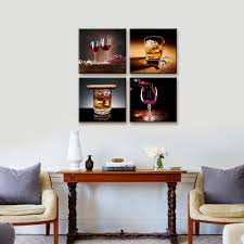 Grapes And Wine Home Decor Amazon Com Home Decor Canvas Wall Art 4 Panels Canvas Prints