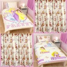 Rapunzel Duvet Cover Disney Princess Locket Single Duvet U0026 Matching Curtains Bedding