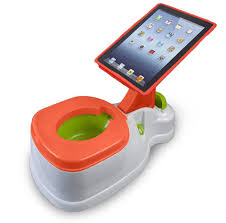 kids u0027 potty is fitted with an ipad holder to keep toddlers