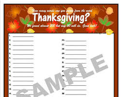 thanksgiving printable word search and word scramble