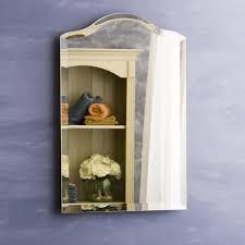 scallop top small recessed medicine cabinet hayneedle