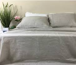 Linen Bed Natural Linen Sheets Set No Dye No Coloring Handcrafted By