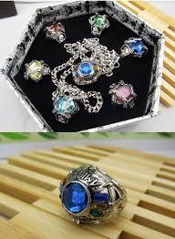 anime ring necklace images Anime katekyo hitman reborn vongola 7 pcs ring necklace set jpg