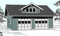craftsman style garage plans ezgarage 2 car plans