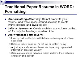 Resumes In Word Resumes Creating Resumes That Stand Out From The Masses Ppt Download