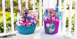 premade easter basket build your own frozen easter basket party city