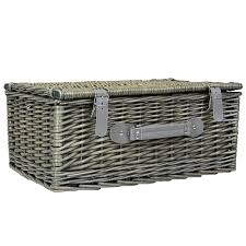 picnic basket for 2 grey wicker picnic basket 2 or 4 person set charles bentley
