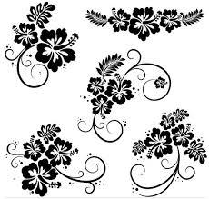 ornamental floral elements 8 ai format free vector