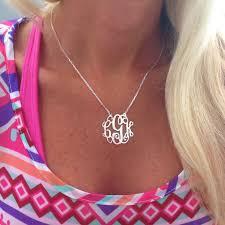 monogram necklace lace monogram necklace i jewelry