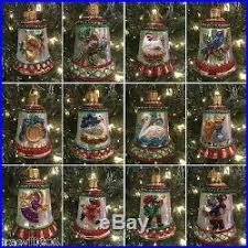 world 12 days of bells glass