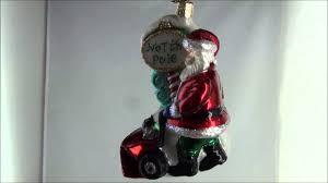 40232 old world christmas snow blower santa glass ornament youtube