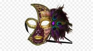 mardi gras mask with feathers mask masquerade mardi gras costume feather scary png