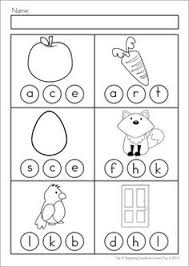 several great practice sheets for beginning and ending sounds
