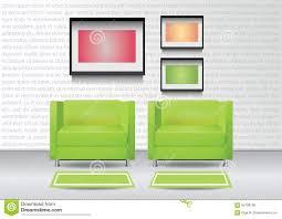 tappeti verdi due poltrone verdi realistiche con due tappeti e tre photoframes
