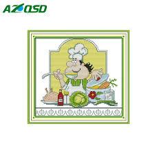 humour cuisine point de croix l humour chef drôle cuire cuisine décor compté