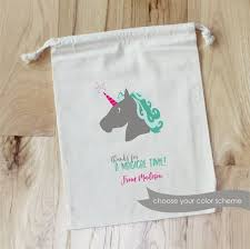personalized favor bags unicorn personalized favor bags magical birthday fairy tales