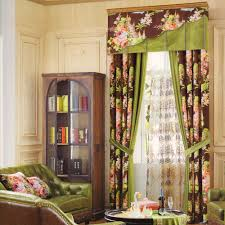 Dining Room Valance Curtains Floral Heavy Velvet Curtains For Dining Room No Valance
