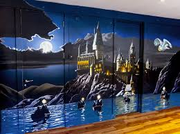 28 harry potter wall murals harry potter hogwarts mural harry potter wall murals harry potter mural sacredart murals