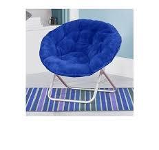 Blue Saucer Chair Saucer Chair Faux Fur College Dorm Room Bedroom Den Reading Kids
