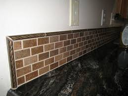 Beautiful Kitchen Backsplash Border With Mosaic Accents Tiled - Backsplash trim ideas