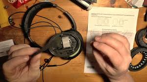Bose Noise Cancelling Headphones Ear Cushion Replacement Bose Qc 15 Replacement Ear Cushions Youtube