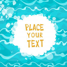 cartoon water background with text template vector free download