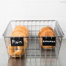 choice level top wire bagel bread basket 14