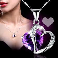 purple heart necklace images Purple heart necklace clever clad jpeg