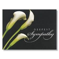 sympathy cards calla lilies deepest sympathy card
