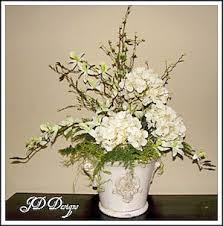 a silk flower centerpiece you can do yourself