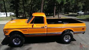 el camino orange 1972 chevy pickup 4x4 custom 10 orange 350 motor c10