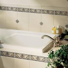 Bathroom Tile Border Ideas Bathroom Bathroom Tiles White And Blue Borders Lowest Price